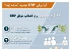 اینفوگرافیک 10 گام ضروری در انتخاب موفق ERP