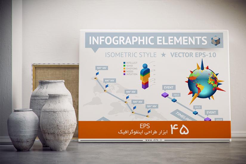 ابزار طراحی اینفوگرافیک-مجموعه 45