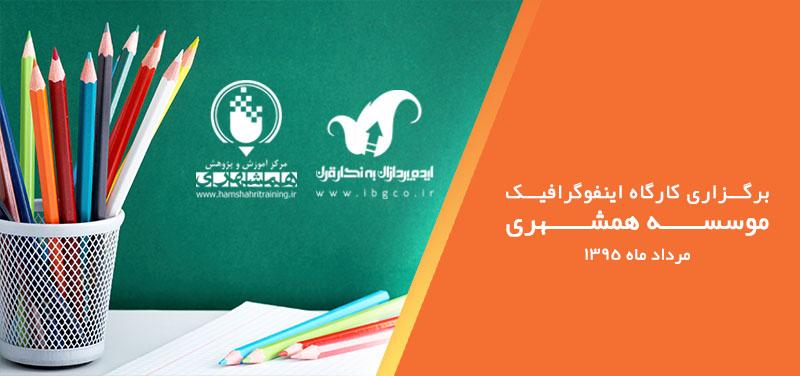 کارگاه اینفوگرافیک در موسسه همشهری