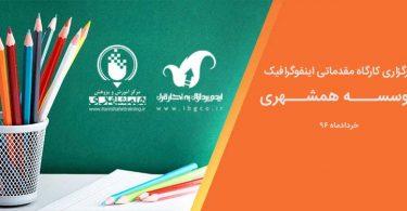 فراخوان کارگاه اینفوگرافیک در موسسه همشهری-خرداد 96