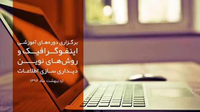 برگزاری دوره آموزشی اینفوگرافیک در ایرانداک – اردیبهشت 1396
