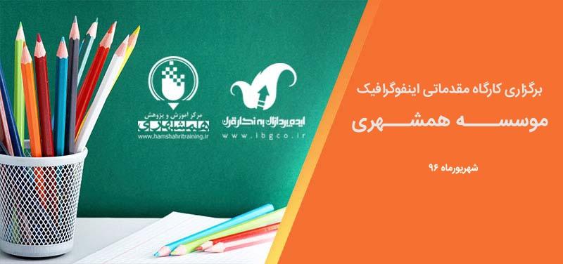 فراخوان کارگاه اینفوگرافیک در موسسه همشهری - شهریور 96