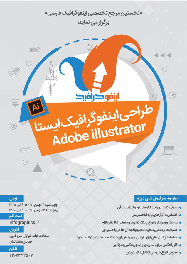 کارگاه طراحی اینفوگرافیک ایستا درAdobe illustrator