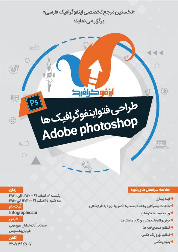 کارگاه طراحی فتواینفوگرافیک در Photoshop