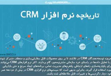 تاریخچه نرم افزار CRM
