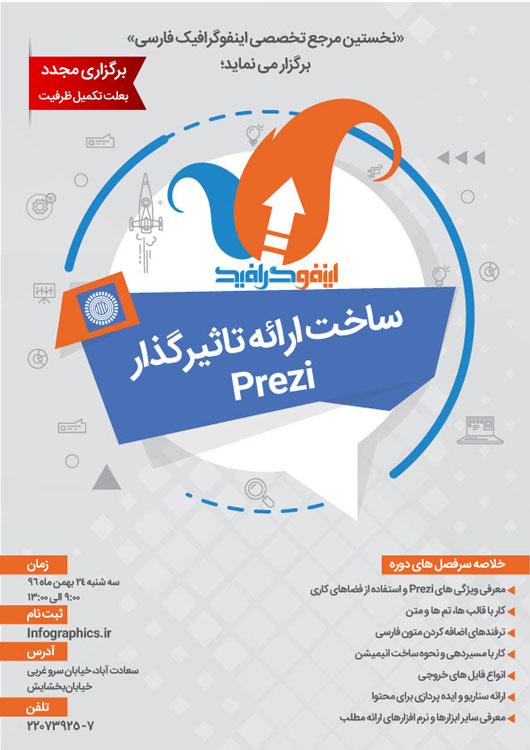 (برگزاری مجدد)کارگاه ساخت ارائه تأثیرگذار در Prezi